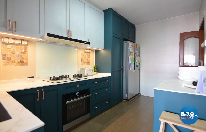 Contemporary Design - Kitchen - HDB 4 Room - Design by Palmwood Pte Ltd
