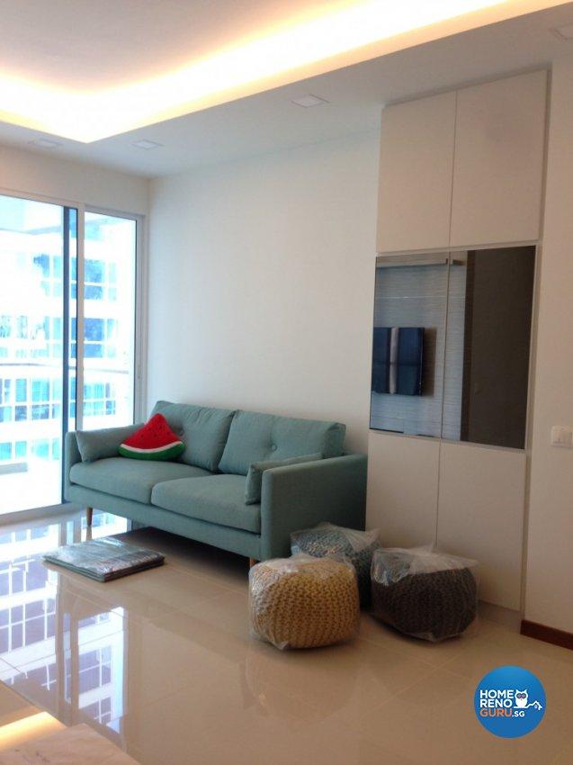 Contemporary, Minimalist Design - Living Room - Condominium - Design by Palmwood Pte Ltd