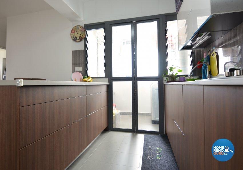 Contemporary Design - Kitchen - HDB 4 Room - Design by Palmwood Pte Ltd
