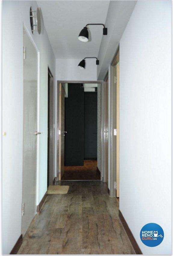 Industrial, Scandinavian Design - Living Room - HDB 4 Room - Design by Penta Design & Contracts Pte Ltd