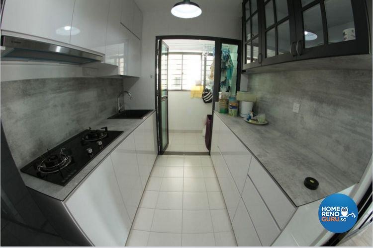 Industrial, Scandinavian Design - Kitchen - HDB 4 Room - Design by Penta Design & Contracts Pte Ltd