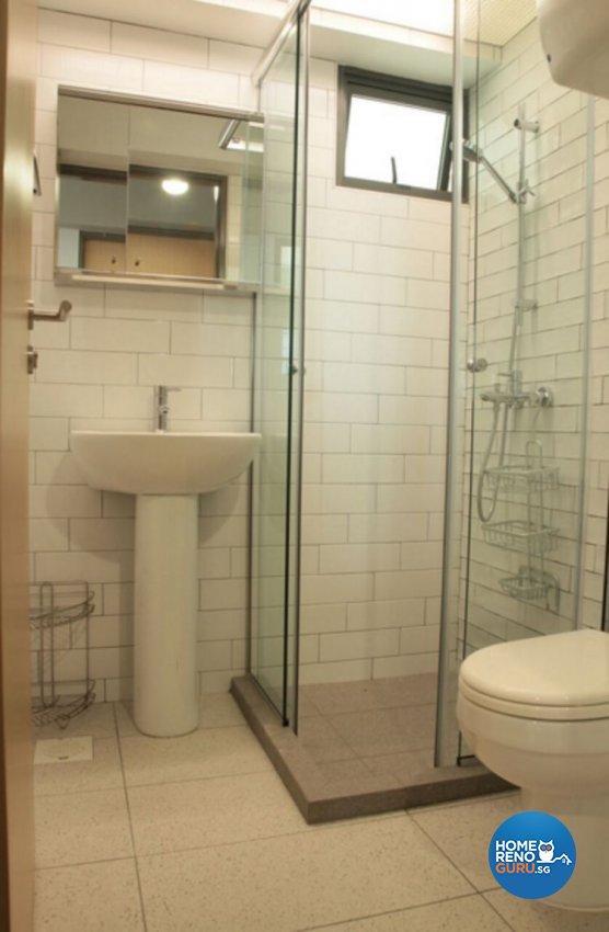 Industrial, Scandinavian Design - Bathroom - HDB 4 Room - Design by Penta Design & Contracts Pte Ltd