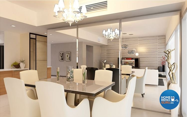 Contemporary, Modern Design - Dining Room - HDB 4 Room - Design by Piuttosto Gallery Pte Ltd