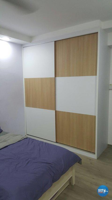 Contemporary, Minimalist, Modern Design - Bedroom - HDB 5 Room - Design by PJ DESIGNWORKS PTE LTD