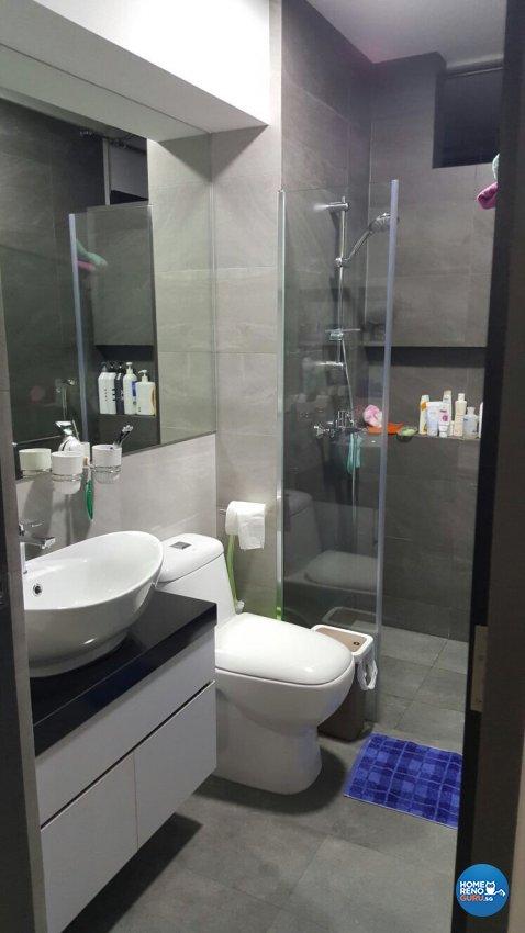 Contemporary, Minimalist, Modern Design - Bathroom - HDB 5 Room - Design by PJ DESIGNWORKS PTE LTD
