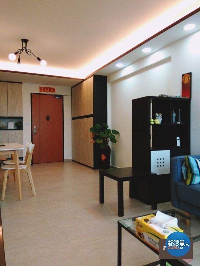 Classical, Contemporary, Industrial Design - Living Room - HDB 4 Room - Design by PJ DESIGNWORKS PTE LTD