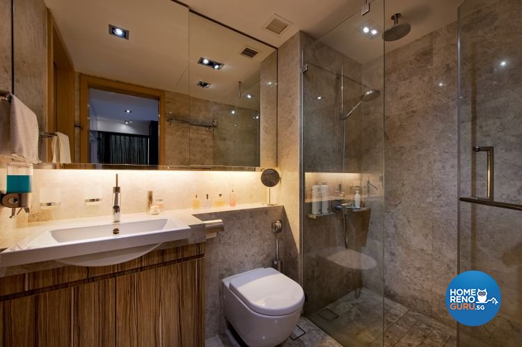 Classical, Rustic Design - Bathroom - Condominium - Design by Posh Home Holding Pte Ltd