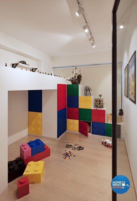 Industrial, Minimalist, Retro Design - Study Room - Condominium - Design by Posh Home Holding Pte Ltd