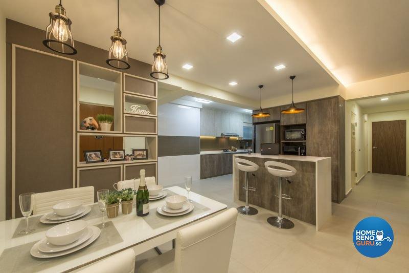 Contemporary, Modern, Scandinavian Design - Dining Room - HDB 5 Room - Design by Posh Living Interior Design Pte Ltd