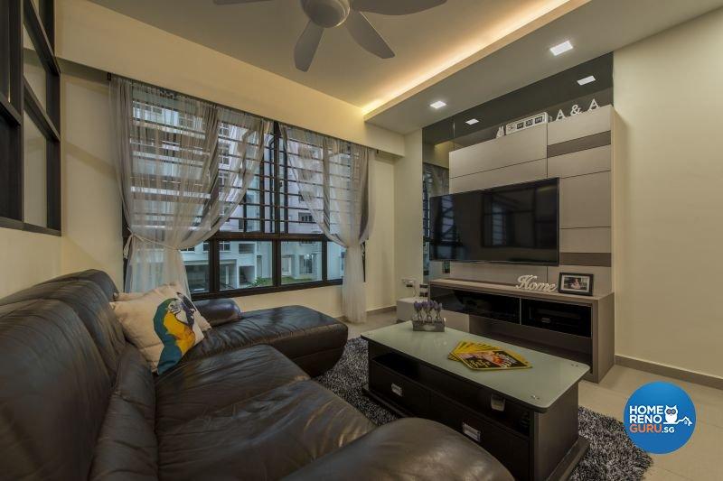 Contemporary, Modern, Scandinavian Design - Living Room - HDB 5 Room - Design by Posh Living Interior Design Pte Ltd