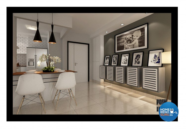 Contemporary, Minimalist Design - Dining Room - HDB 4 Room - Design by Posh Living Interior Design Pte Ltd