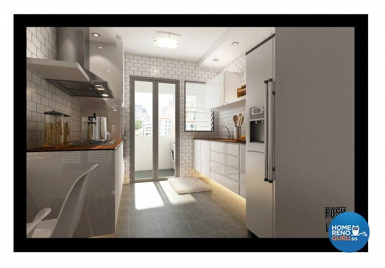 Contemporary, Minimalist Design - Kitchen - HDB 4 Room - Design by Posh Living Interior Design Pte Ltd