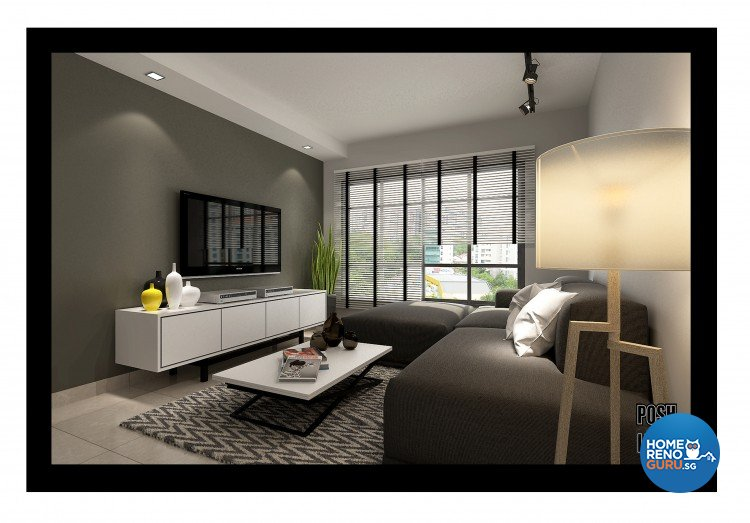 Contemporary, Minimalist Design - Living Room - HDB 4 Room - Design by Posh Living Interior Design Pte Ltd