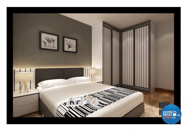 Contemporary, Minimalist Design - Bedroom - HDB 4 Room - Design by Posh Living Interior Design Pte Ltd