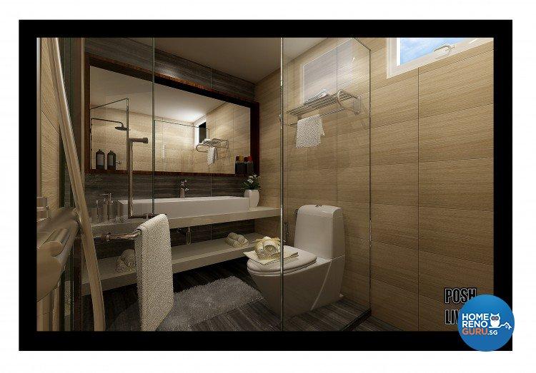 Country, Scandinavian Design - Bathroom - HDB 5 Room - Design by Posh Living Interior Design Pte Ltd