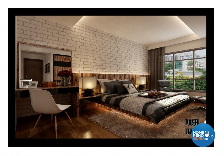 Country, Scandinavian Design - Bedroom - HDB 5 Room - Design by Posh Living Interior Design Pte Ltd