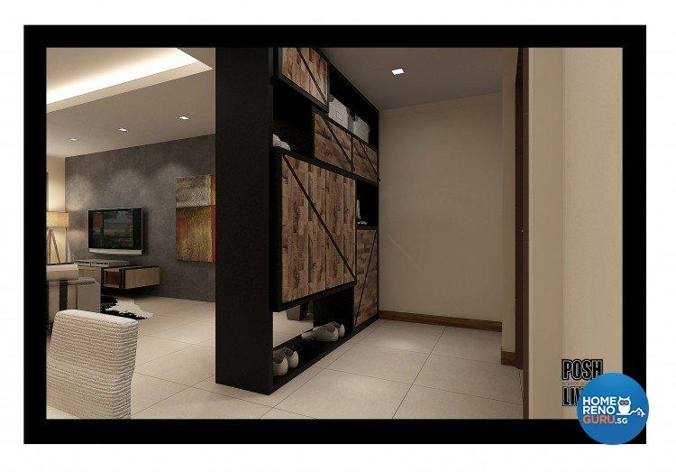 Country, Scandinavian Design - Living Room - HDB 5 Room - Design by Posh Living Interior Design Pte Ltd