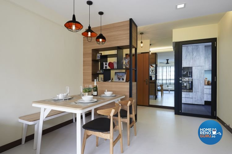 Industrial, Minimalist, Scandinavian Design - Dining Room - HDB 4 Room - Design by Posh Living Interior Design Pte Ltd