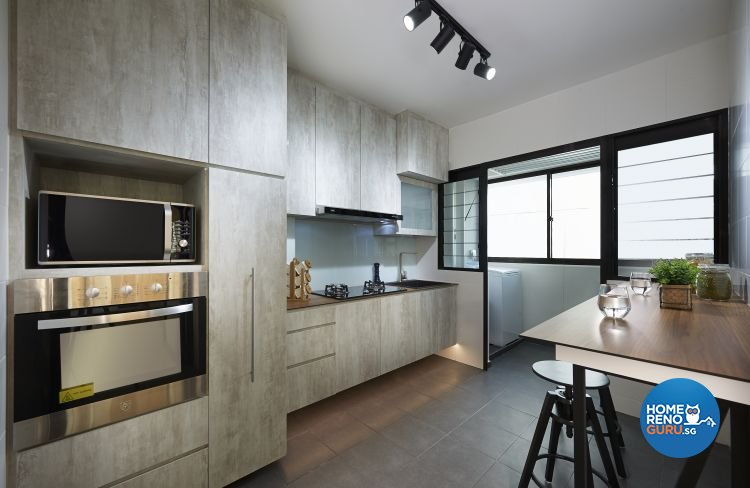Industrial, Minimalist, Scandinavian Design - Kitchen - HDB 4 Room - Design by Posh Living Interior Design Pte Ltd
