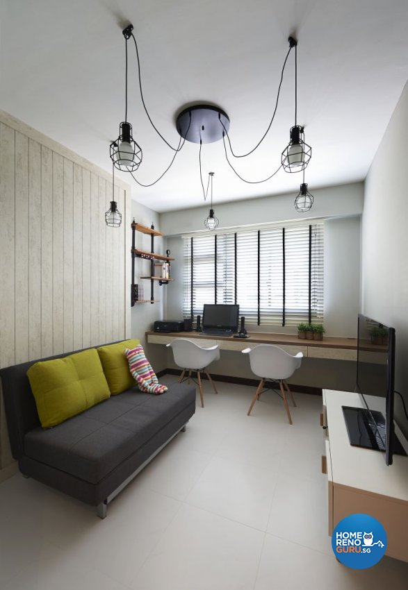 Industrial, Minimalist, Scandinavian Design - Study Room - HDB 4 Room - Design by Posh Living Interior Design Pte Ltd