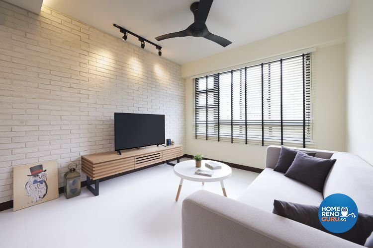 Industrial, Minimalist, Scandinavian Design - Living Room - HDB 4 Room - Design by Posh Living Interior Design Pte Ltd