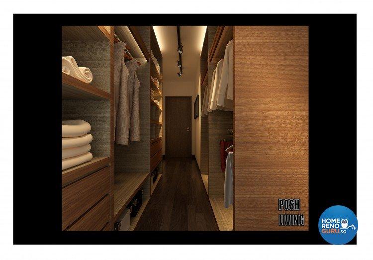 Industrial, Modern, Resort Design - Bedroom - HDB 5 Room - Design by Posh Living Interior Design Pte Ltd