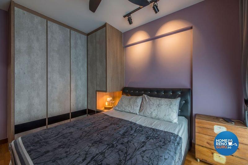 Industrial, Rustic Design - Bedroom - HDB 4 Room - Design by Posh Living Interior Design Pte Ltd