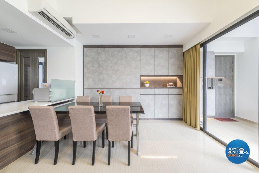 Modern Design - Dining Room - Condominium - Design by Posh Living Interior Design Pte Ltd