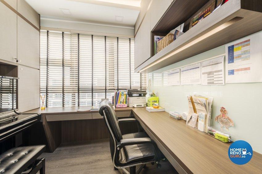 Modern Design - Study Room - Condominium - Design by Posh Living Interior Design Pte Ltd
