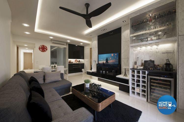 Contemporary, Minimalist, Modern Design - Living Room - Condominium - Design by Posh Living Interior Design Pte Ltd