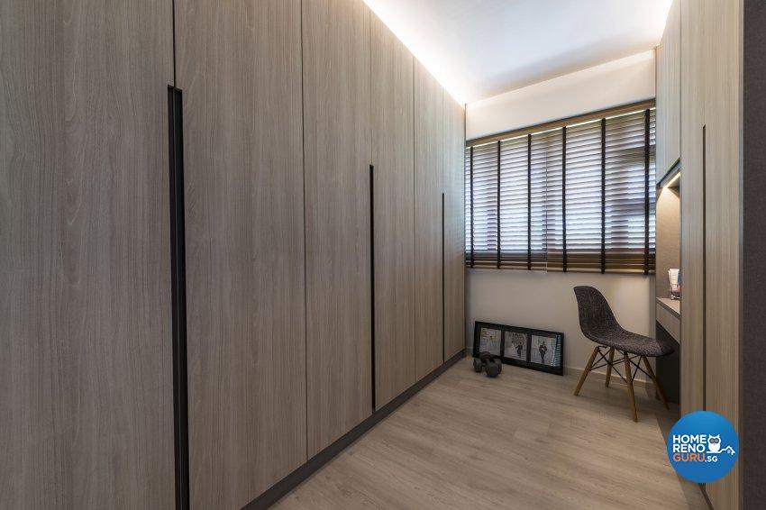 Industrial, Retro, Rustic Design - Bedroom - HDB 5 Room - Design by Posh Living Interior Design Pte Ltd