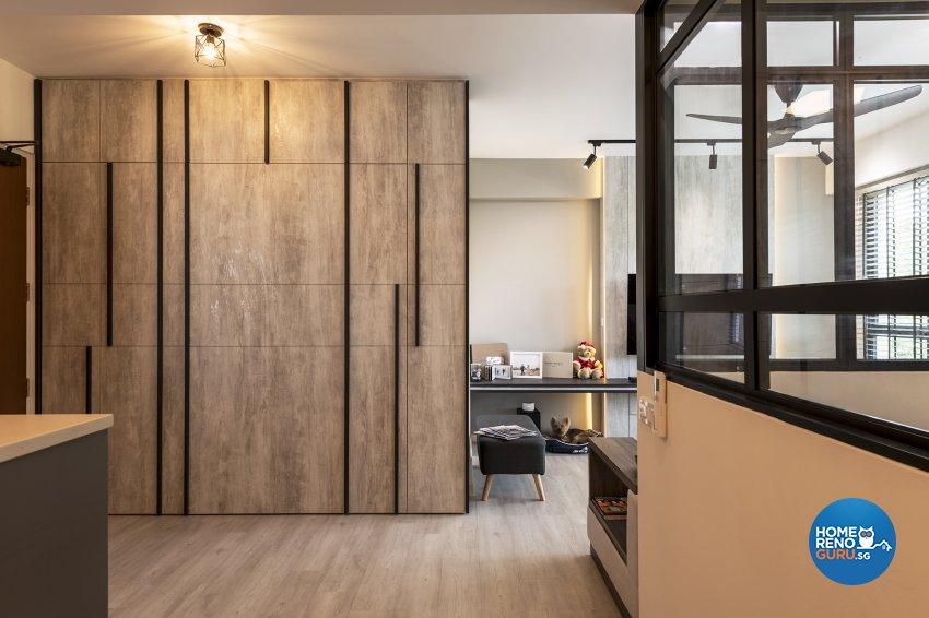 Industrial, Retro, Rustic Design - Dining Room - HDB 5 Room - Design by Posh Living Interior Design Pte Ltd
