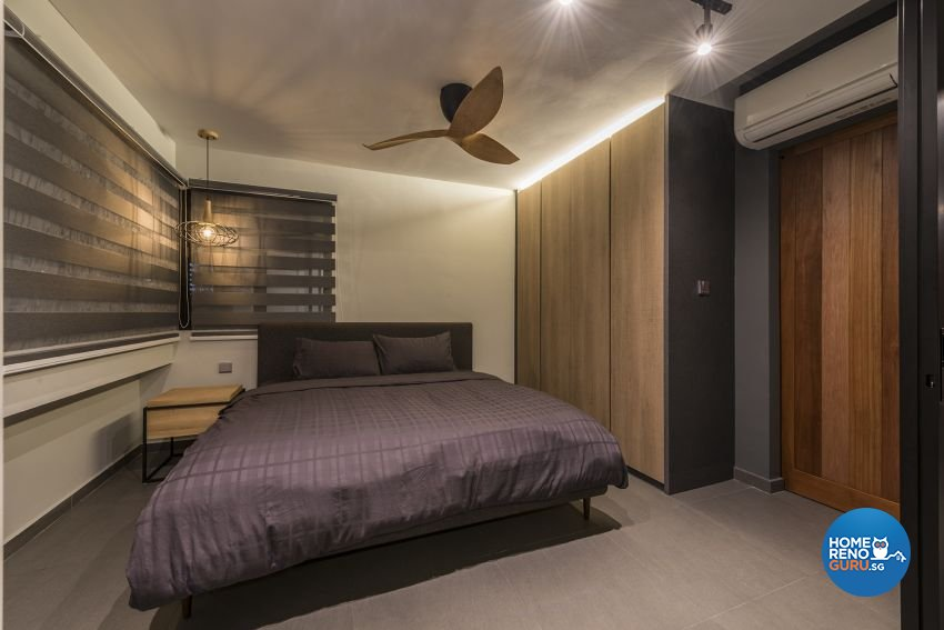 Industrial, Minimalist, Rustic Design - Bedroom - HDB 4 Room - Design by Posh Living Interior Design Pte Ltd