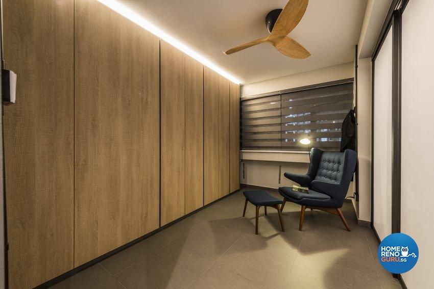 Industrial, Minimalist, Rustic Design - Bedroom - HDB 4 Room - Design by Posh Living Interior Design Pte Ltd