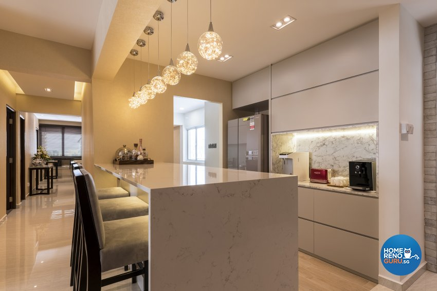 Classical, Contemporary, Modern Design - Dining Room - HDB Executive Apartment - Design by Posh Living Interior Design Pte Ltd