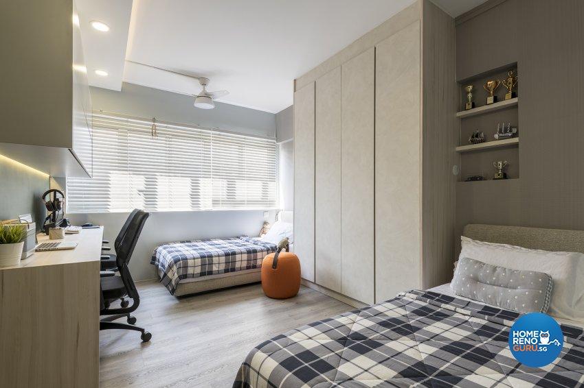 Classical, Contemporary, Modern Design - Bedroom - HDB Executive Apartment - Design by Posh Living Interior Design Pte Ltd