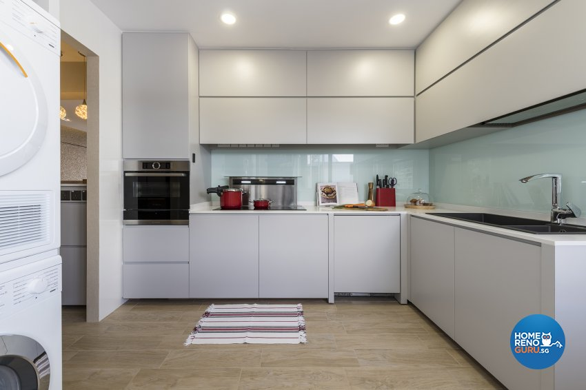 Classical, Contemporary, Modern Design - Kitchen - HDB Executive Apartment - Design by Posh Living Interior Design Pte Ltd