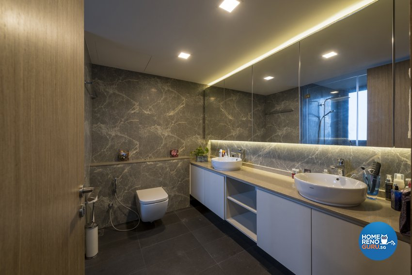 Contemporary, Modern, Resort Design - Bathroom - Condominium - Design by Posh Living Interior Design Pte Ltd