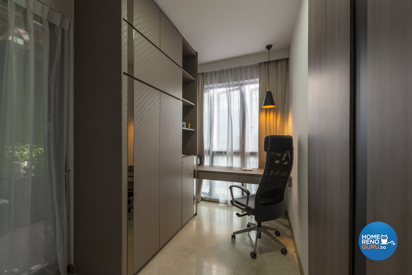 Contemporary, Modern, Resort Design - Study Room - Condominium - Design by Posh Living Interior Design Pte Ltd