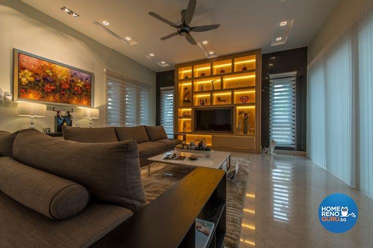 Contemporary, Minimalist, Modern Design - Living Room - Landed House - Design by Posh Living Interior Design Pte Ltd