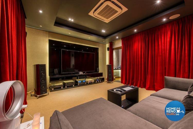 Contemporary, Minimalist, Modern Design - Entertainment Room - Landed House - Design by Posh Living Interior Design Pte Ltd