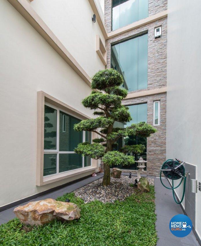 Contemporary, Minimalist, Modern Design - Garden - Landed House - Design by Posh Living Interior Design Pte Ltd