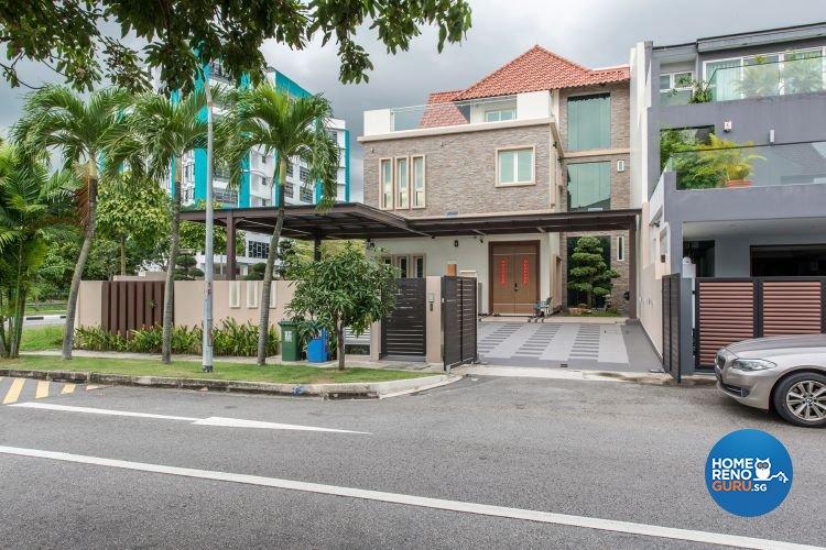Contemporary, Minimalist, Modern Design - Balcony - Landed House - Design by Posh Living Interior Design Pte Ltd