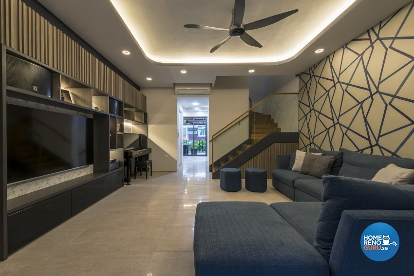 Contemporary, Modern Design - Living Room - Landed House - Design by Posh Living Interior Design Pte Ltd