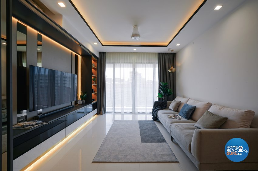 Contemporary, Minimalist, Modern Design - Living Room - Condominium - Design by Posh Living Interior Design Pte Ltd