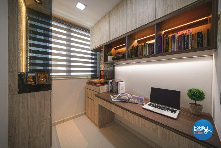 Contemporary, Minimalist, Modern Design - Study Room - Condominium - Design by Posh Living Interior Design Pte Ltd