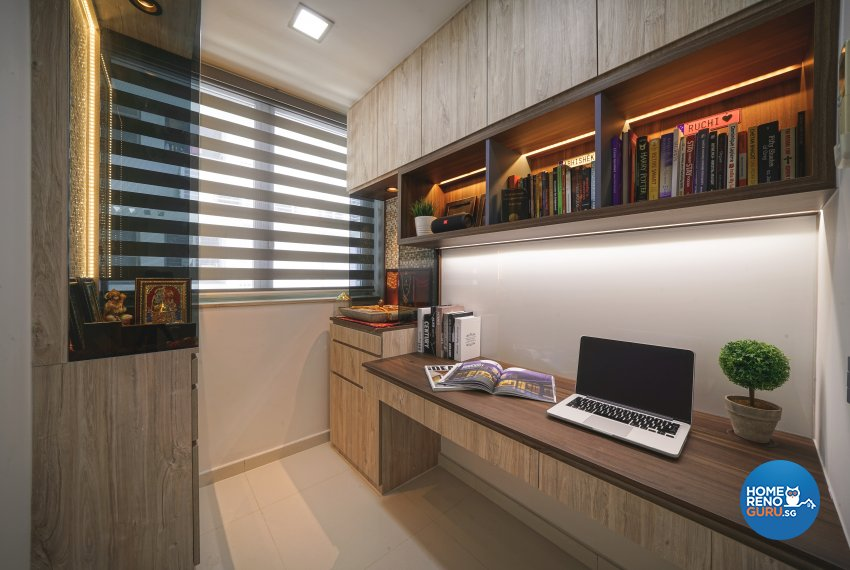 Contemporary, Minimalist, Modern Design - Study Room - Condominium - Design by Posh Living Interior Design Pte Ltd