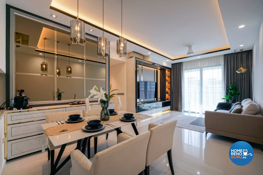 Contemporary, Minimalist, Modern Design - Dining Room - Condominium - Design by Posh Living Interior Design Pte Ltd