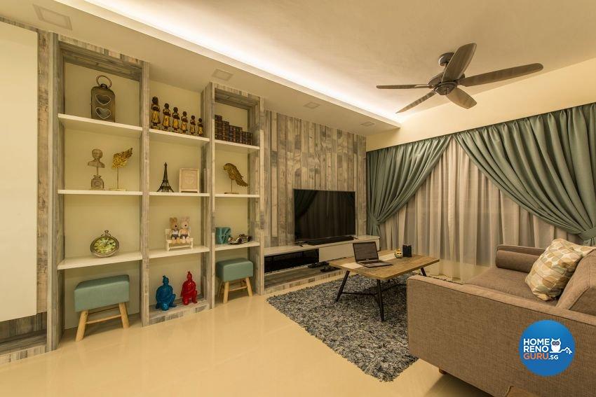 Contemporary, Minimalist, Scandinavian Design - Living Room - HDB 4 Room - Design by Posh Living Interior Design Pte Ltd