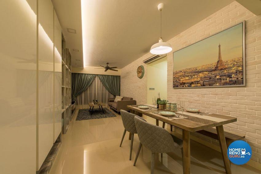 Contemporary, Minimalist, Scandinavian Design - Dining Room - HDB 4 Room - Design by Posh Living Interior Design Pte Ltd